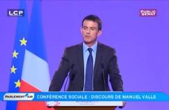 Conférence sociale 2014 : discours de Manuel Valls qui aborde le portage salarial