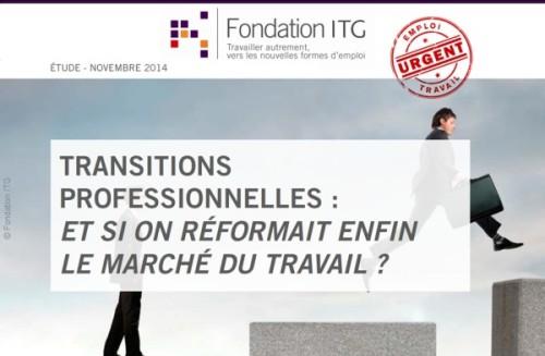 Fondation ITG : étude européenne sur les sur mes transitions professionelles