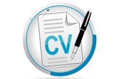 Picto représentant un CV (curriculum vitae)