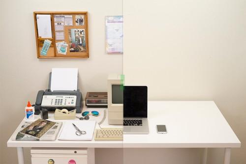 l'évolution du bureau du freelance de 1980 à 2014