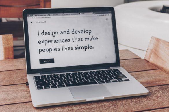 Un exemple de portfolio de webdesigner